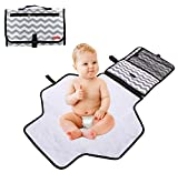 Obecome Portable Waterproof Baby Diaper Changing Pad Kit, Travel Home Change Mat Organizer Bag for Toddlers Infants and Newborns: more info
