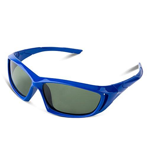 [RIVBOS RBK005 Rubber Flexible Kids Polarized Sunglasses Age 3-10 (Blue New)] (Prescription Colored Contact Lenses)