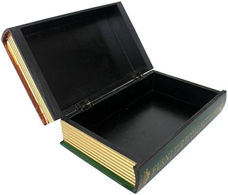 Diseño de libro de réplica de caja de madera caja de almacenaje ...