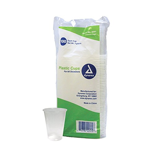 Plastic Drinking Cups 7 oz. 100-Count (Pack of 25)