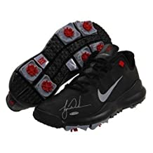 TIGER WOODS Hand Signed Authentic TW 13 Black Shoe - Upper Deck Certified - Autographed Golf Shoes