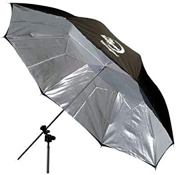Photogenic 45 Eclipse Umbrella with Silver Interior /& Black Cover. EC45S