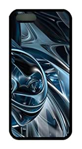 3D abstract hd 2 TPU Black unique iphone 5 case for Apple iPhone 5/5S