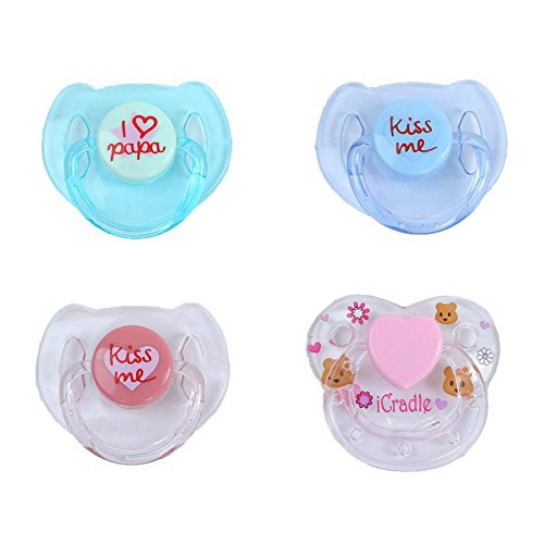 Magnet Pacifier for Reborn Newborn Baby Dolls Handmade Magnetic Nipple Dummy Kiss Blue