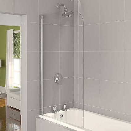 Aqualux 800 mm AQUA 4 media para baño y ducha para bañera pantalla ...
