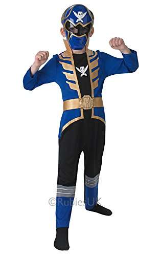 Blue Super Mega Force Power Ranger Costume Fancy Dress Party Small Age 3-4 years (Mega Fancy Dress Costumes)