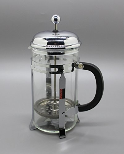 Fixture Displays Set of 3 French Coffee Press - 8 Cup/4 Mug (1 liter, 34 oz), Chrome 15915-COFFEE PRESS by FixtureDisplays