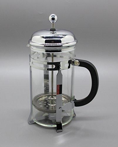 Le Meilleur French Press Coffee Maker : Fixture Displays French Coffee Press - 8 Cup/4 Mug (1 liter, 34 oz), Chrome 15915-COFFEE PRESS ...