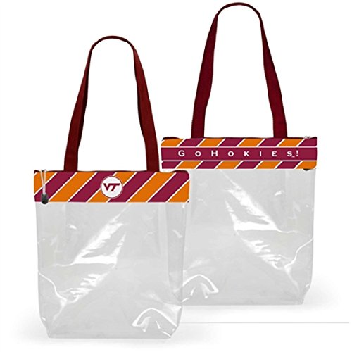 Desden Virginia Tech Hokies Clear Gameday Stadium Tote Bag by Desden