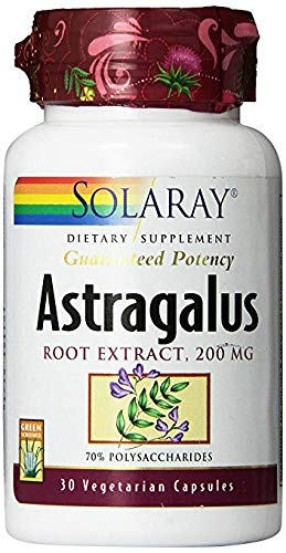 Solaray Astragalus Extract, 200mg, 30 Count (2 Pack)