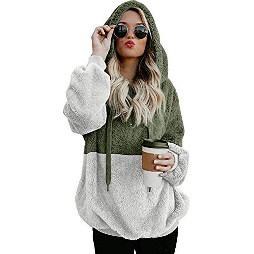 Womens Hoodies Sweatshirts Womens Pullover Hoodie LONGDAY Long Sleeve Oversized Jumper with Pockets ()