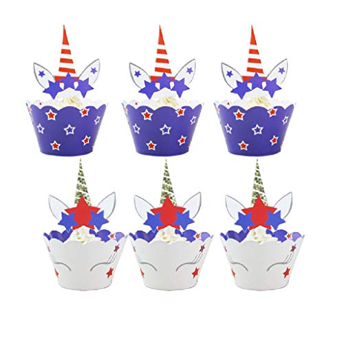 XMNDS Cupcake Toppers and Wrappers - 36 Packs Double-Sided Cake Toppers Set for Baby Shower, Kids Birthday, Themed Birthday Party Cake Decorations (Tiara Flat Cup)