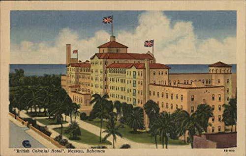British Colonial Hotel Nassau, Bahamas Original Vintage Postcard