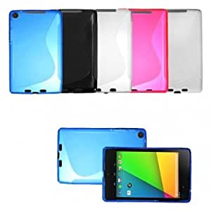 TPU Soft Gel Silicone Case Cover For Asus Google Nexus 7 2nd Gen --- Color:Clear
