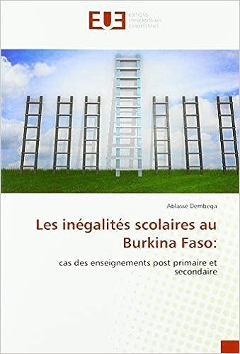 Amazon Fr Les Inegalites Scolaires Au Burkina Faso Cas