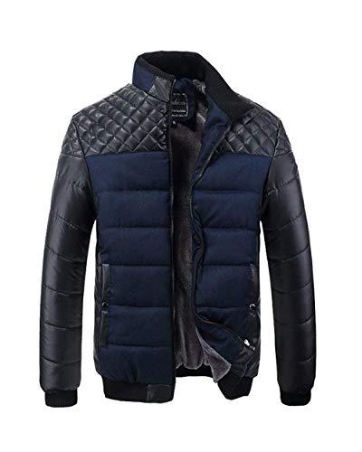 Maschile Blau Invernale Lunga Tuta Cappotto Del Trapuntato Sportiva Calda Basamento Abbigliamento Manica Parka Collare Ispessita Nen Uomini tU4pRw