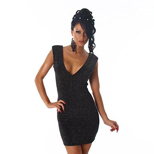 Voyelles - Vestido - Estuche - para mujer negro/plateado