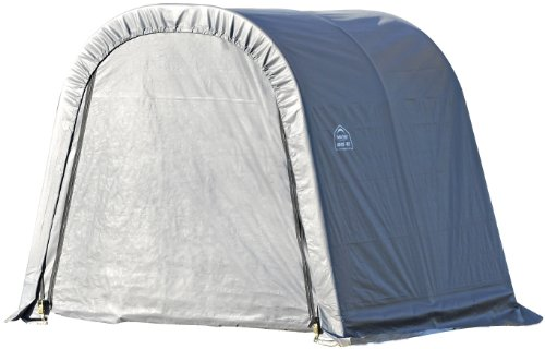 ShelterLogic 71031 Grey 10'x24'x8′ Round Style Shelter, Outdoor Stuffs