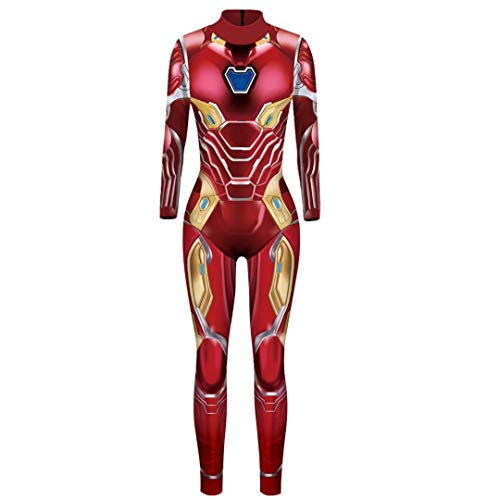 Iron Man Jumpsuit Women Halloween Cosplay Costumes Bodysuit Outfit