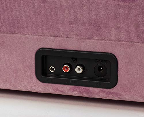 Crosley Cruiser Deluxe Vintage 3-Speed Bluetooth Suitcase Turntable, Mauve Velvet