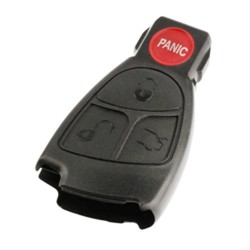 Key Fob Keyless Entry Remote Shell Case & Pad fits Mercedes C Class, CLK, CLS, E Class, G Class, Slk Class, AMG