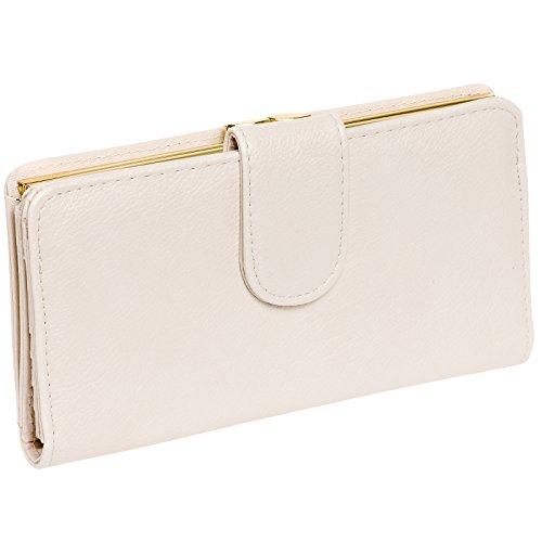 Mundi Womens Suburban Rio Checkbook Safe Keeper RFID Clutch Wallet (Bone) - Tan Womens Wallet