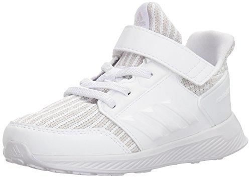 adidas Baby Rapidarun Knit I Sneaker, Grey Two Fabric,White,White, 4K M US Infant
