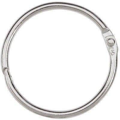Acco Loose-leaf Binding Rings - 1.50quot; Diameter - Stainless Steel - 100 / Box - Silver by ACCO Brands by ACCO Brands