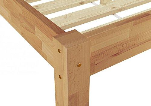 Erst Holz Einzelbett Jugendbett Gastebett 100x200 Buche Massiv
