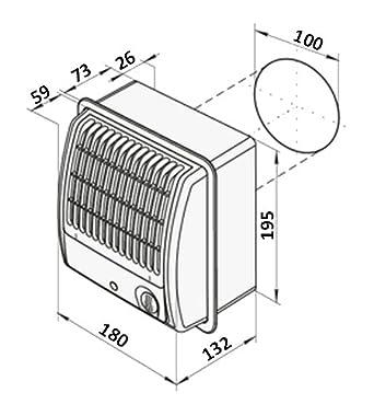 Zentrifugal-Abluftventilator CF Turbo 100mm kugelgelagerter Motor Staubfilter hoher Luftdruck inkl