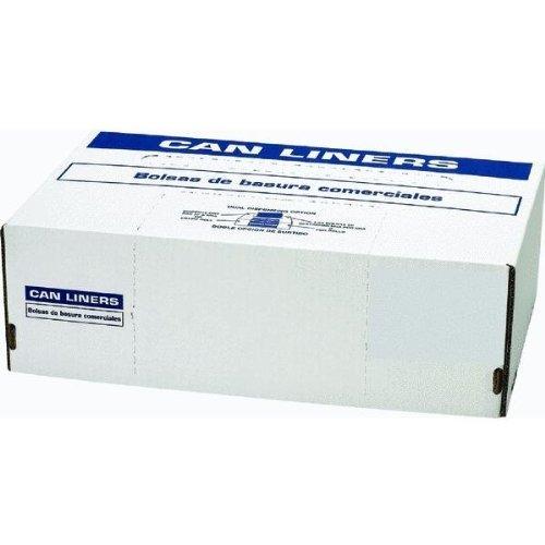 Berry Plastics HR404812N Rhino-X High Density Polyethylene Coreless Roll Can Liner, 40-45 gallon Capacity, 12 micron Thick, 48