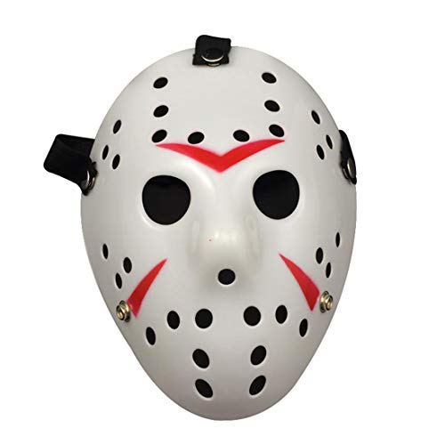 Jason Mask for Anonymous gatherings Halloween costume events Music festivals Rave for adults kids boys men -