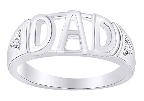 10K Gold Natural Diamond Accent Dad - Diamond Dad Accent Ring