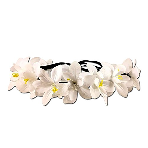 Festie Fever Light Up White Flower Crown with 3 (Etsy Toddler Halloween Costumes Boy)