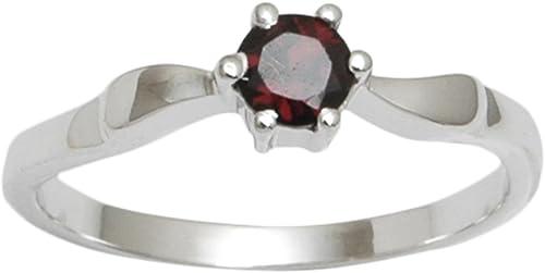 Banithani Garnet 925 Silver Rings For Women Gemstone Finger Ring Jewelry