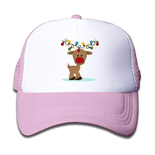 Flying Reindeer Christmas On Boys Girls Trucker Hat, Youth Toddler Mesh Hats Baseball - Tone Sleigh Two
