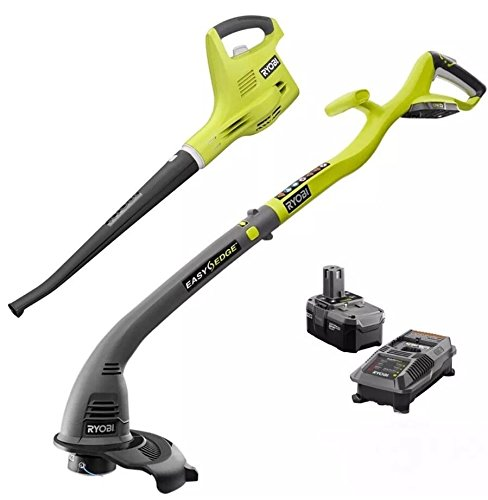 Ryobi 18-Volt Lithium-Ion Cordless String Trimmer/Edger Blower/Sweeper Combo Kit by Ryobi