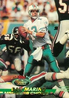 Dan Marino Football Card  Miami Dolphins  1993 Tsc  246