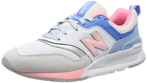 New Balance Women's 997H V1 Sneaker, Arctic Fox/Guava, 6.5 B US
