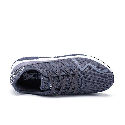 Nachrichten Leder Sportschuhe QZbeita Running Sport Breathable Turnschuhe Man Bequeme Walking Grau