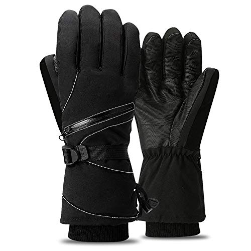 Ski Gloves Winter Warm Riding Windproof Waterproof Men Women Plus Velvet Thick Cotton Bike Anti-Skid Outdoor Motorcycle