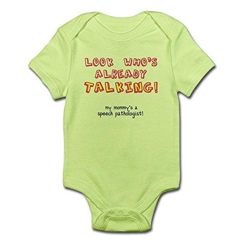 CafePress Look Who's Talking Cute Infant Bodysuit Baby Romper