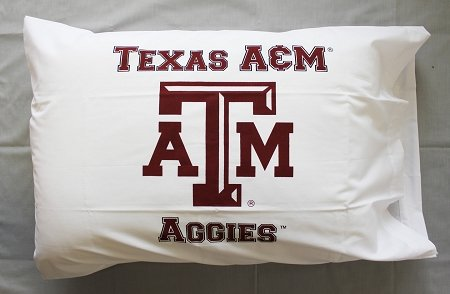 Bunnies and Bows - Texas A&M University Classic - Personalized Pillowcase