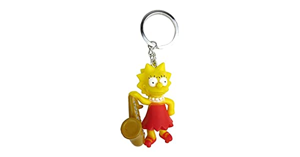 Amazon.com: Fox The Simpsons lisa 3d pvc llavero: Monogram ...