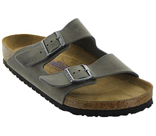 Birkenstock Unisex Arizona Iron Oiled Leather Sandals - 40 M EU/9-9.5 B(M) US Women/7-7.5 B(M) US Men ()