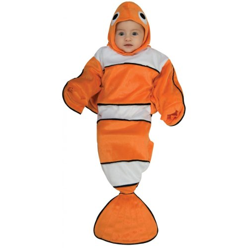 Finding Nemo Costumes Adults (Rubie's Costume Deluxe Baby Bunting, Lil' Guppy, 0 to 9 Months)