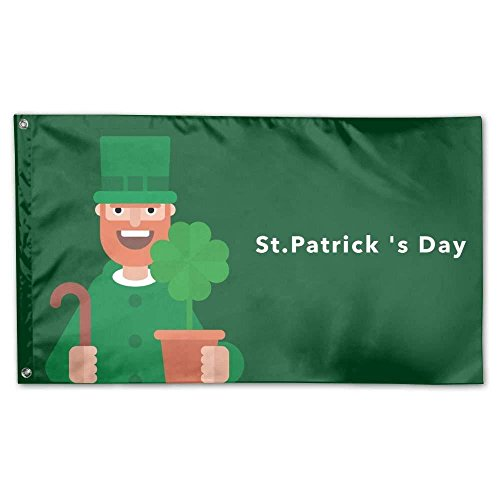 St.Patrick's Day Home Garden Flags Polyester 3x5 Foot