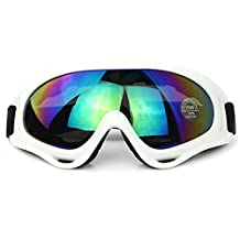 Sduck Outdoor Ski Goggles, Winter Sport Off road Motor Bike Eyewear Snow Snowboarding Glasses snow/UV- Protection Multi-Color Lens eyewear Skiing Goggle, White