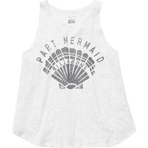 Billabong Girls Tank Top (Billabong Big Girls' Part Mermaid Shell Tank, Ice Athletic Grey, L)