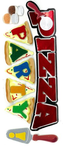 Jolee's Boutique Dimensional Stickers, Pizza Party